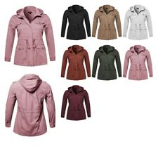 FashionOutfit Women's Casual Adjustable Sleeve Anorak Detachable Hoodie Jacket