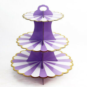 3 Tier Cupcake Stand Muffin Cake Display Tower Tree Rack Treats Decorations