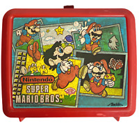 Vintage 80s Super Mario Brothers Lunchbox Nintendo Video Game Arcade Collectible