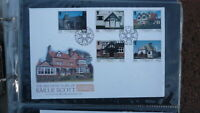 ISLE OF MAN STAMP ISSUE FDC, 2001 BAILLIE SCOTT ARCHITECTURE SET OF 5 STAMPS