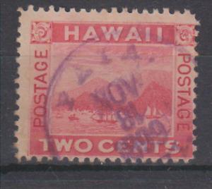 HAWAII Sc 81 - PAIA MAUI TOWN DATE CANCEL - VF USED