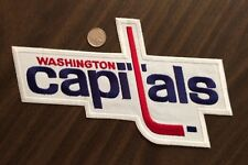 "Vintage Washington Capitals NHL Crest/logo  Patch Sew On Iron On 11""x6.5"" Inch"