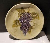 Tabletops Unlimited Cabernet Salad Plate Semi Scalloped Purple Grapes - Last One