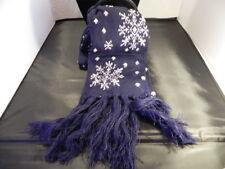 Sciarpa Blu Neve Inverno