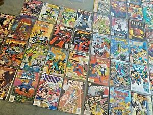 Large Lot of 43 Vintage Comic Books 1990's Collection Mixed Lot DC, Marvel +More