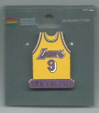 NBA Los Angeles Lakers Nick Van Exel #9 Yellow Jersey Pin OOP LIMITED!!!