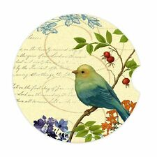 Car Coaster Pack of 2 Car Bird Design Absorbent Stone Car Cup Holder for Drinks