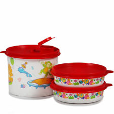 TUPPERWARE New Kids Set 2 Duo Wonder, 1 Maxi Dispenser, All with red seals