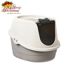 New listing Cat Litter Box Enclosed Pan Hooded Jumbo Giant Covered Kitty House Standard