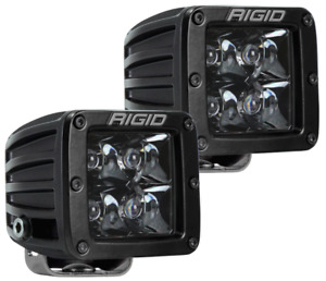 RIGID Industries 202213BLK Midnight Edition D-Series WHITE LED Spot Light Set