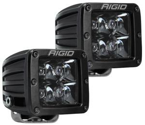 RIGID Industries 202213BLK Midnight Edition D-Series WHITE LED Spot Light Set