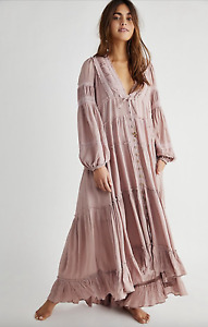 Free People Endless Sumer Cassis Maxi Dress Size Large