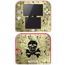 Vinyl Skin Decal Cover for Nintendo 2DS - Graffiti Skull and Bones