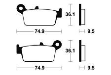 Plaquettes de frein Bendix MA104 Organique pour GAS GAS