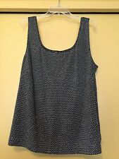 NEW Alex Evenings Black/White/Silver Dots, Sleeveless Top, Size 3X Plus, NWOT