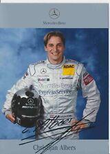 Christian Albers  DTM  Mercedes 2003 Autogrammkarte Druck signiert 384918