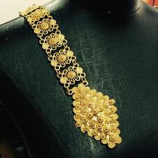 GOLD PLATED COSTUME WOMEN BELT VINTAGE THAI TRADITIONAL FASHION CHAIN WEDDING