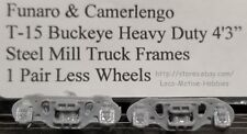 "LMH Funaro F&C T-15  BUCKEYE TRUCKS Heavy Duty 4'-3"" 4-Wheel STEEL MILL HD Frame"