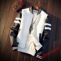 Mens Boys College Baseball Jacket Muti colors Varsity Zip Up Sport Coat 1pc