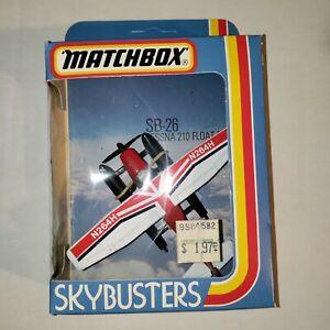 "NIB Vintage (1981) Matchbox ""Skybusters"" SB-26 Cessna 210 Float Plane N264H"