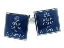 Keep Calm I'M A Lawyer Cufflinks Gift Judge Scale Office + Box & Cleaner