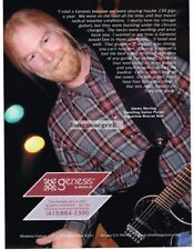2000 Modulus Genesis Electric Guitar Jimmy Herring Vtg Print Ad