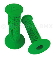 AME old school BMX ROUNDS bicycle grips - GREEN *MADE IN USA*