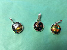 Sterling Silver and Dichroic Glass