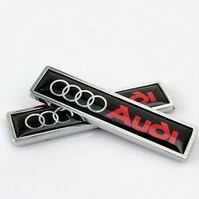 1Pair for Audi A3 A4 A6 A8 Q5 Q7 TT Car Emblem Badge decal sticker Decoration