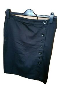 MEXX LADIES BLACK FEMALE ELEGANT SKIRT WITH BUTTONS IN VARIOUS SIZES 10 S