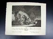 Gravure XVIII° signée Paul Wolfgang Schwarz,  D - 27,5 x 22,5 cm