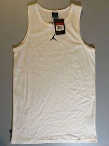 Vintage 2007 Jordan Dri Fit Basketball Tank top size Large White/Black 267643