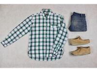 Oliver Spencer - Shirt - Green/WhiteCheck - 15.5/39/Medium
