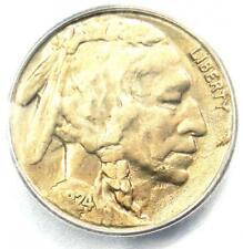 1924-S Buffalo Nickel 5C - Certified ICG AU50 - Rare Date Buffalo - $1,620 Value