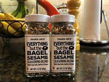 Trader Joe's Everything But The Bagel Seasoning(Two 2.3 Oz Bottles)