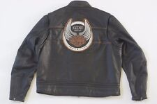 Harley Davidson Men's 105th Anniversary Black Leather Jacket 2XL 97105-08VM Rare
