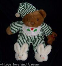 "13"" VINTAGE 1992 PLUSH CREATIONS BROWN BABY TEDDY BEAR STUFFED ANIMAL TOY PAJAMA"