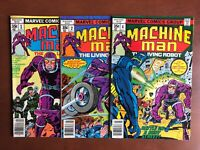 Machine Man #1 2 4 (1978) VF Marvel Key Issue Bronze Age Stan Lee Comic Book