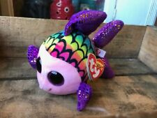 """Ty Beanie Boos Flippy The Fish With Wrong Heart Tag Error Reads Aqua 6"""""""