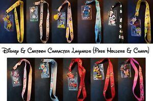 Disney Minnie, Mickey Cartoon & More- ID Holder Charm Lanyard - Fast & Free Post