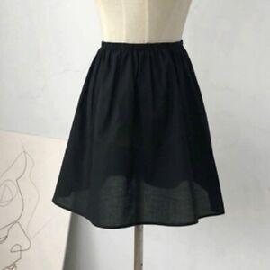 Women Cotton Skirt Underskirt Petticoat Under Dress Half Slip Mini A Line Soft