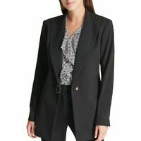 DKNY NEW Women's Solid D-ring Wear To Work Blazer Jacket Top TEDO