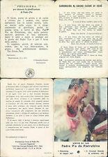 """PADRE PIO, R@RISSIMO SANTINO CON RELIQUIA """"PEZZO DI STOFFA"""" n.5"""