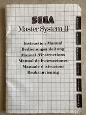 Manuale di istruzioni libretto multilingue Sega Master System 2 vintage console