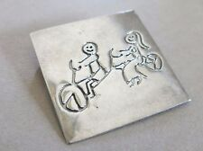 Sterling Silver Brooch Bicycle made for Two Mexican Taxco 6.7g [2977]