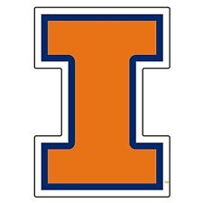 UNIVERSITY OF ILLINOIS Fighting Illini Large Cornhole Decals / SET of 2