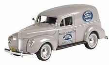 Case of 12 43rd Scale 1940 Ford Van #442 Dawson Ford / Folkstone Gray