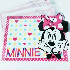 Disney Minnie Mouse Glitter Placemats Set of Four Pink Black White