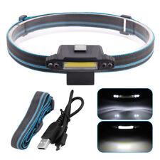 1*COB +4*F5 5LED Stirnlampe Laufen Taschenlampe Kopflampe USB wiederaufladbar