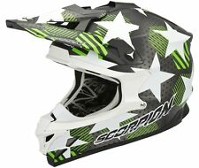 CASCO HELMET CROSS MOTO KAWASAKI KX65 SCORPION VX 15 EVO AIR STADIUM VERDE